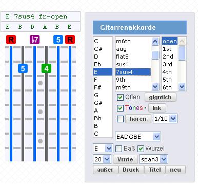 Gootar\'s Guitar Chord Creator Printer