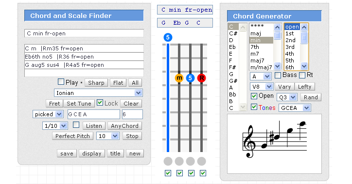 Banjo Chords Generator all with Sound,