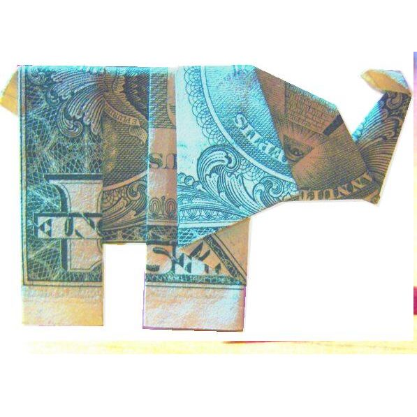 Dollar Bill Origami Elephant Ganesh
