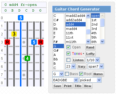 Gootar Guitar Chord Generator And Scale Finder Programs