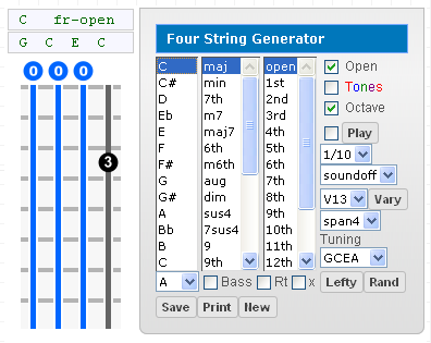Bass Gootar Guitar Chord Generator and Scale Finder Programs ...