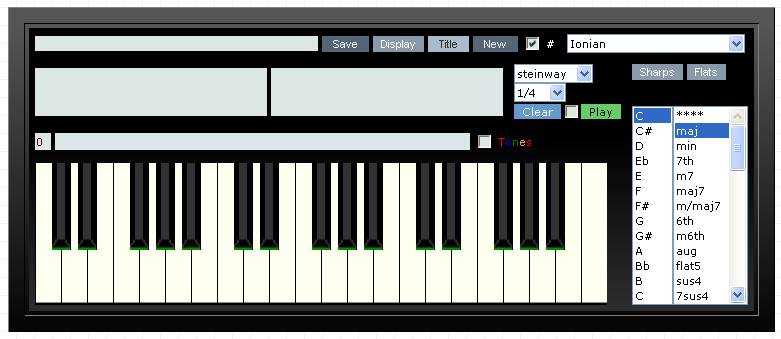 Piano ninth chords piano : Pocket Piano Chord Name Finder with Sound