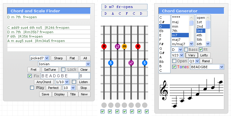 Seven String Tab Generator Writer Player, Tab Editor